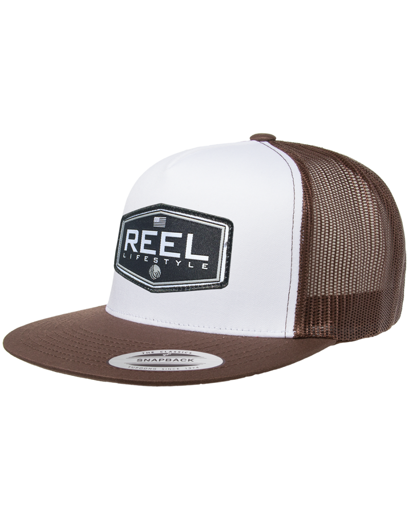 REEL Ovated 2-Tone Snapback - Brown/White