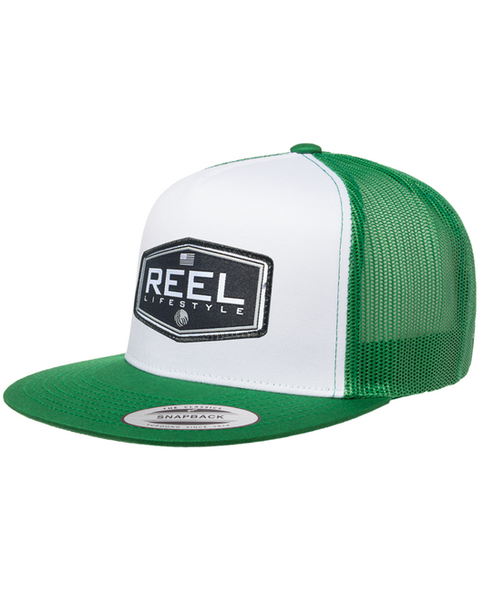 REEL Ovated 2-Tone Snapback - Kelly Green/White