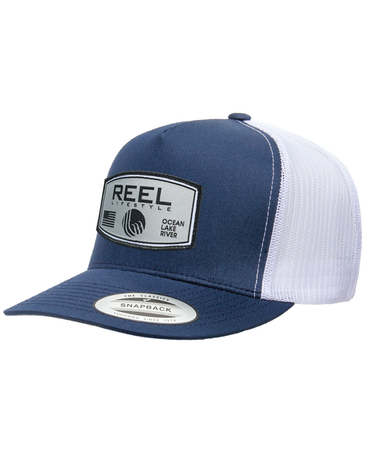 REEL Rounded 2-Tone Snapback - Navy/White