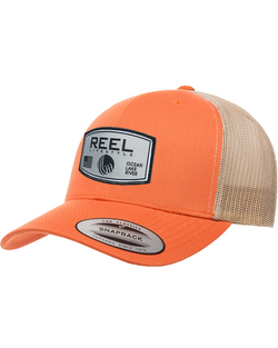 REEL Rounded 2-Tone Retro Snapback - Orange/Khaki