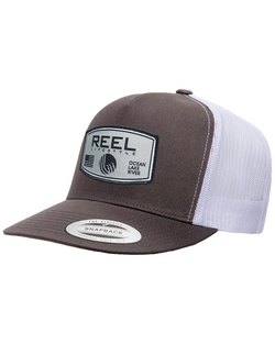 REEL Rounded 2-Tone Snapback - Charcoal/White
