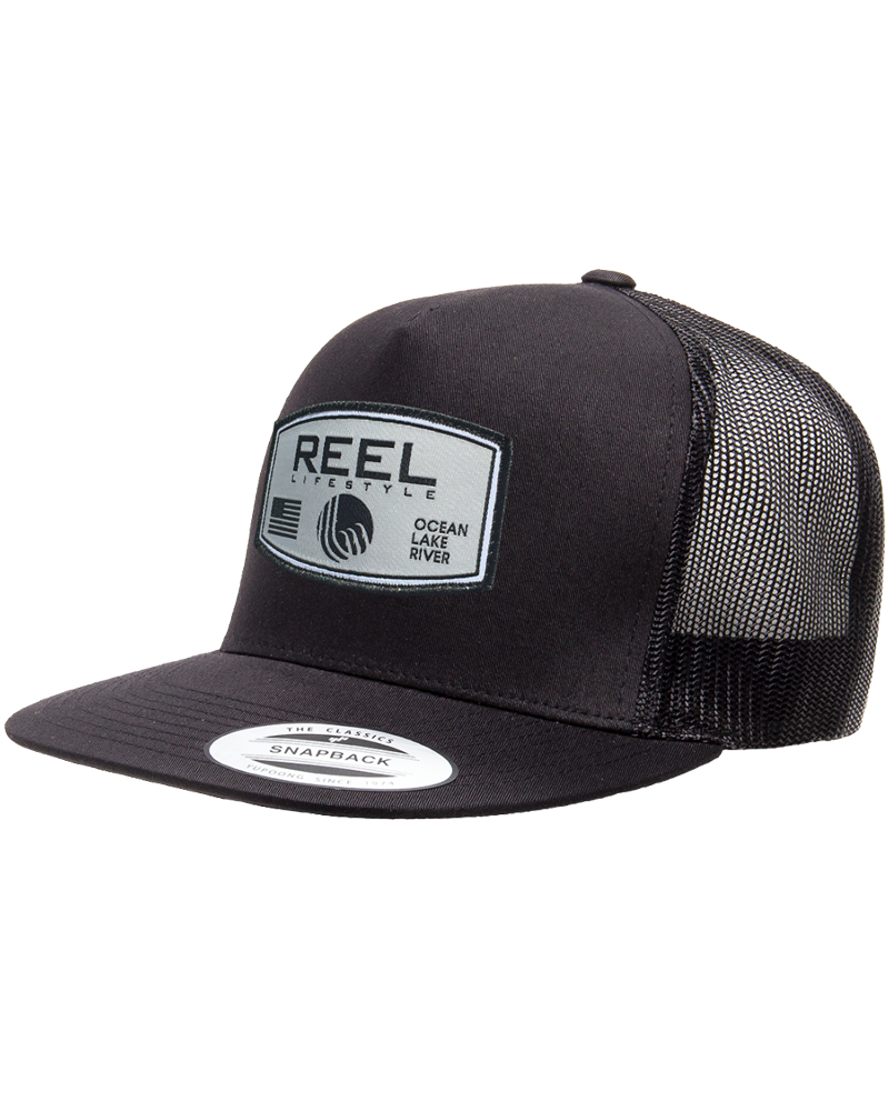 REEL Rounded Classic Snapback - Black