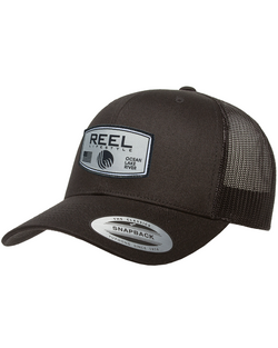 REEL Rounded Retro Trucker Snapback - Black