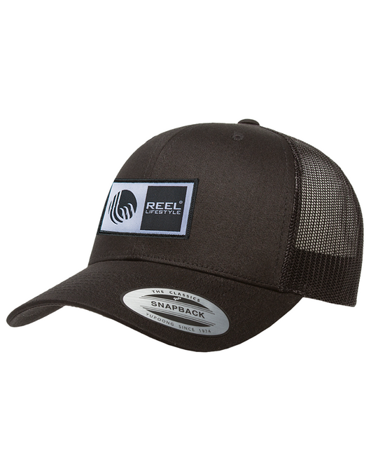 Retro Trucker Snapback - Black