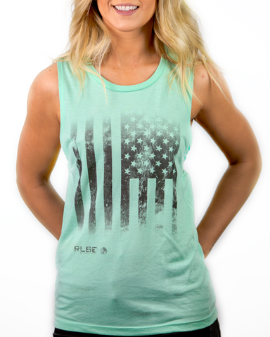 Tattered Flag Muscle Tank