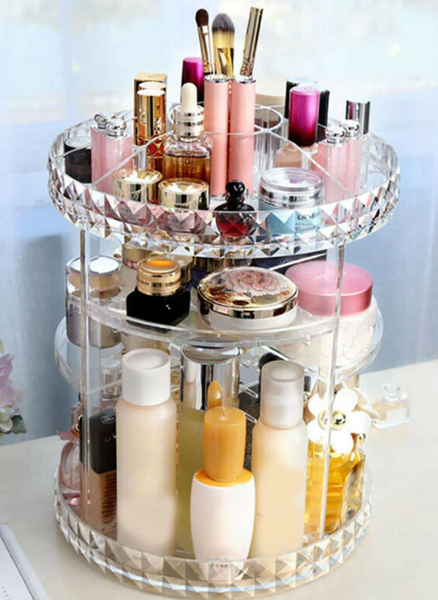 rotating makeup storage