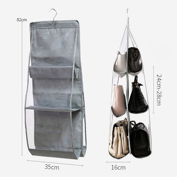 hanging handbags organizer