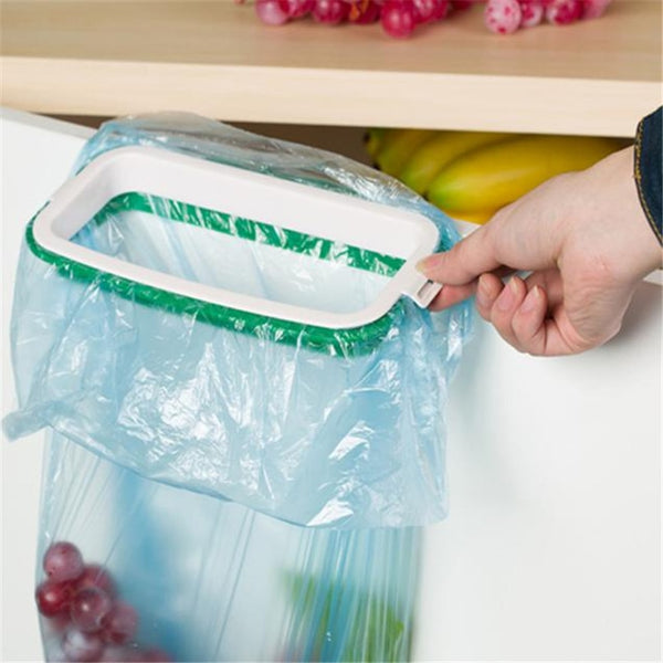hanging garbage bag holder