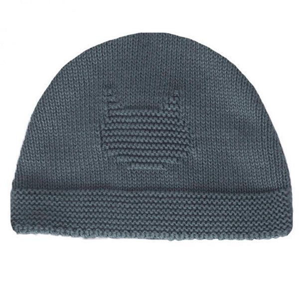 Knitted Bonnet - Blue denim