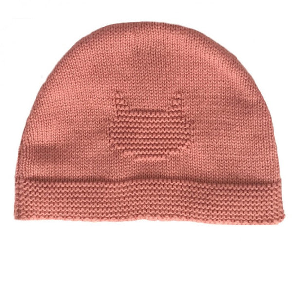 Knitted Bonnet - Coral