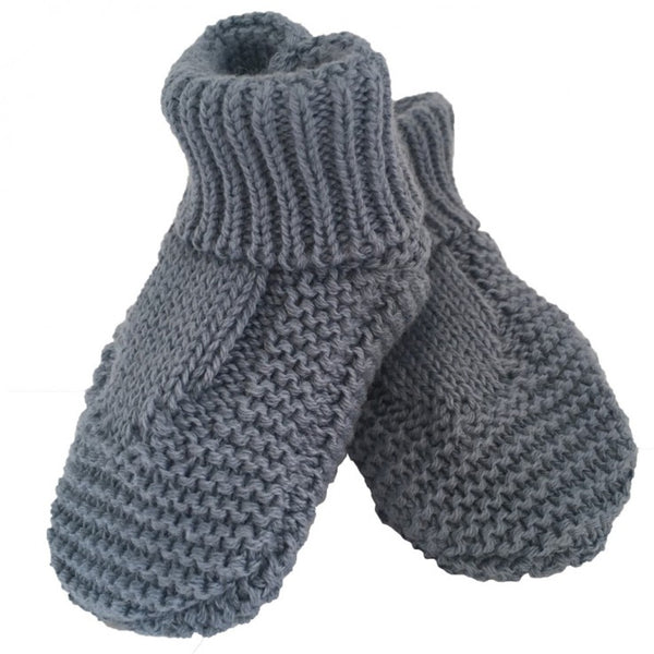 Knitted slipper Socks - Blue Denim