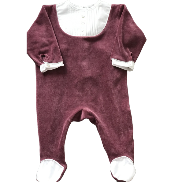 Axel Footie - Burgundy Velour