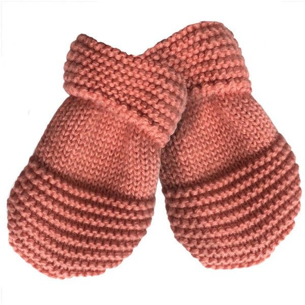 Knitted Mittens - Coral