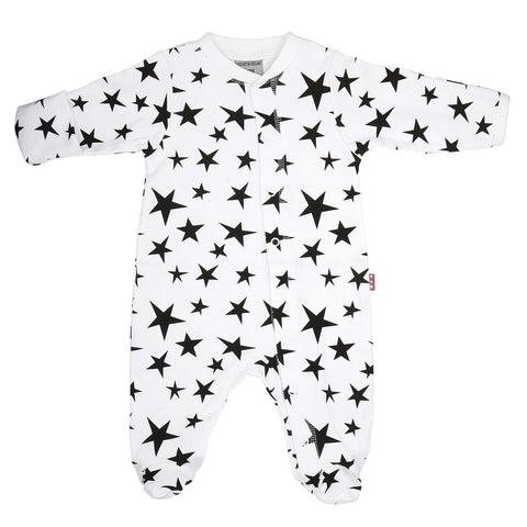 Sleepsuit - Classic Black and White Star