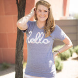 Hello Floral (Adult & Kids) Heather Grey Tri-Blend