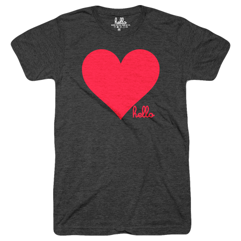 Heart (Adult) Black Tri-Blend