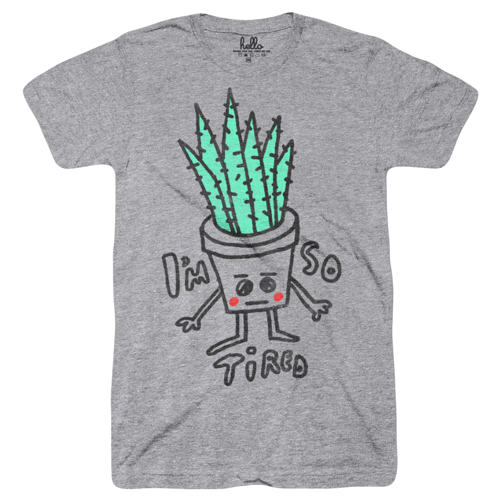 Tired Aloe (Adult) Athletic Grey Tri-Blend