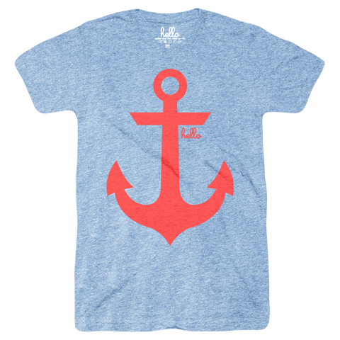 Anchor (Adult & Kids) Athletic Blue Tri-Blend
