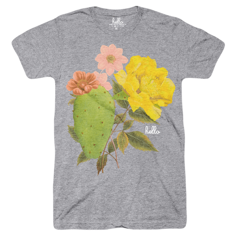 Cactus Blossoms (Adult & Kids) Heather Grey Tri-Blend