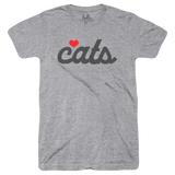 Heart Cats & Dogs (Adult) Heather Grey Tri-Blend