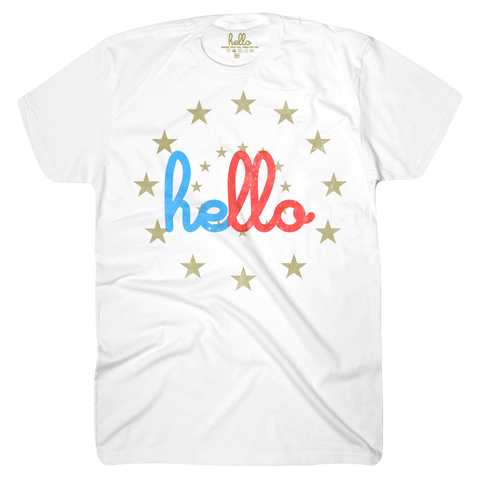 Hello Starburst (Adult & Kids) White T-Shirt