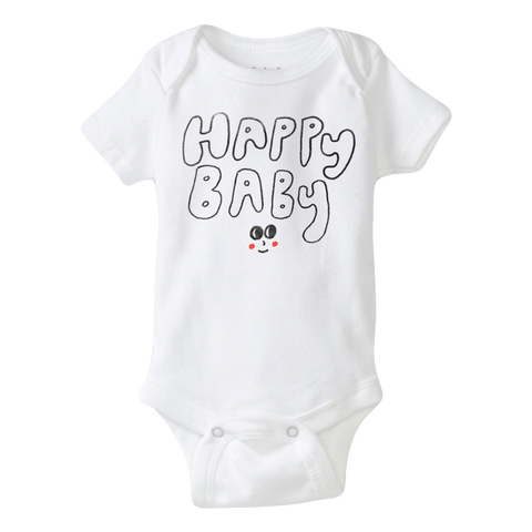 Happy Baby (Babies) White One-Piece with snaps