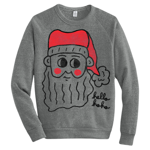 Hello Ho Ho (Adult) Eco Grey Champ Pullover