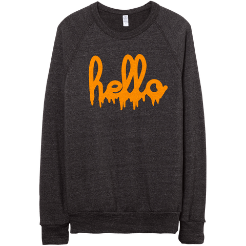 Hello Drip (Adult) Eco Black Champ Pullover
