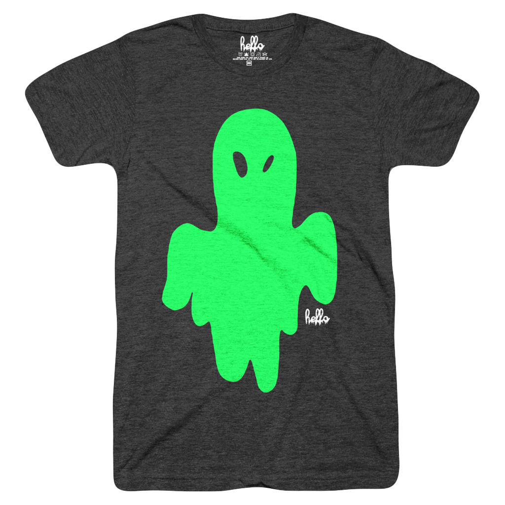 Glow Ghost (Kids) Heather Black T-Shirt