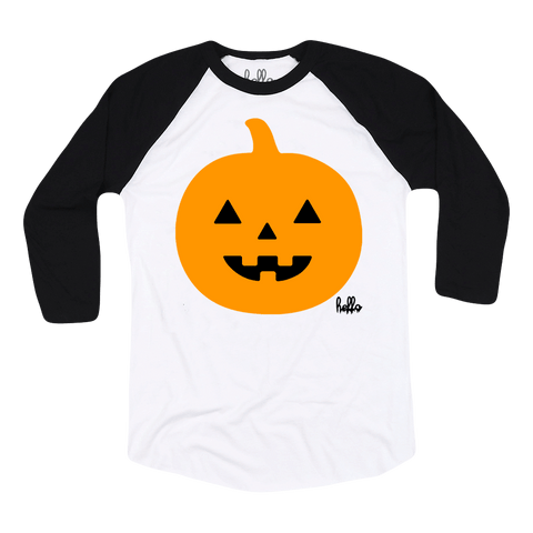 Jack (Kids) White & Black 3/4 Sleeve Raglan