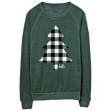 Buffalo Plaid Tree (Adult) Heather Forest Pullover Sweatshirt