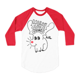 Merry & Bright (Kids) White & Red 3/4 Sleeve Raglan