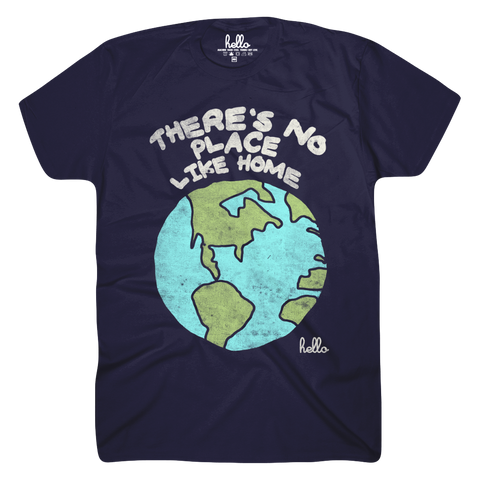 There's No Place Like Home (Adult & Kids) Navy T-Shirt