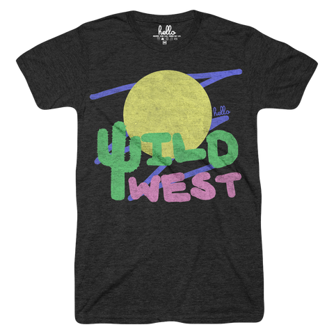 Wild West (Adult & Kids) Black Tri-Blend