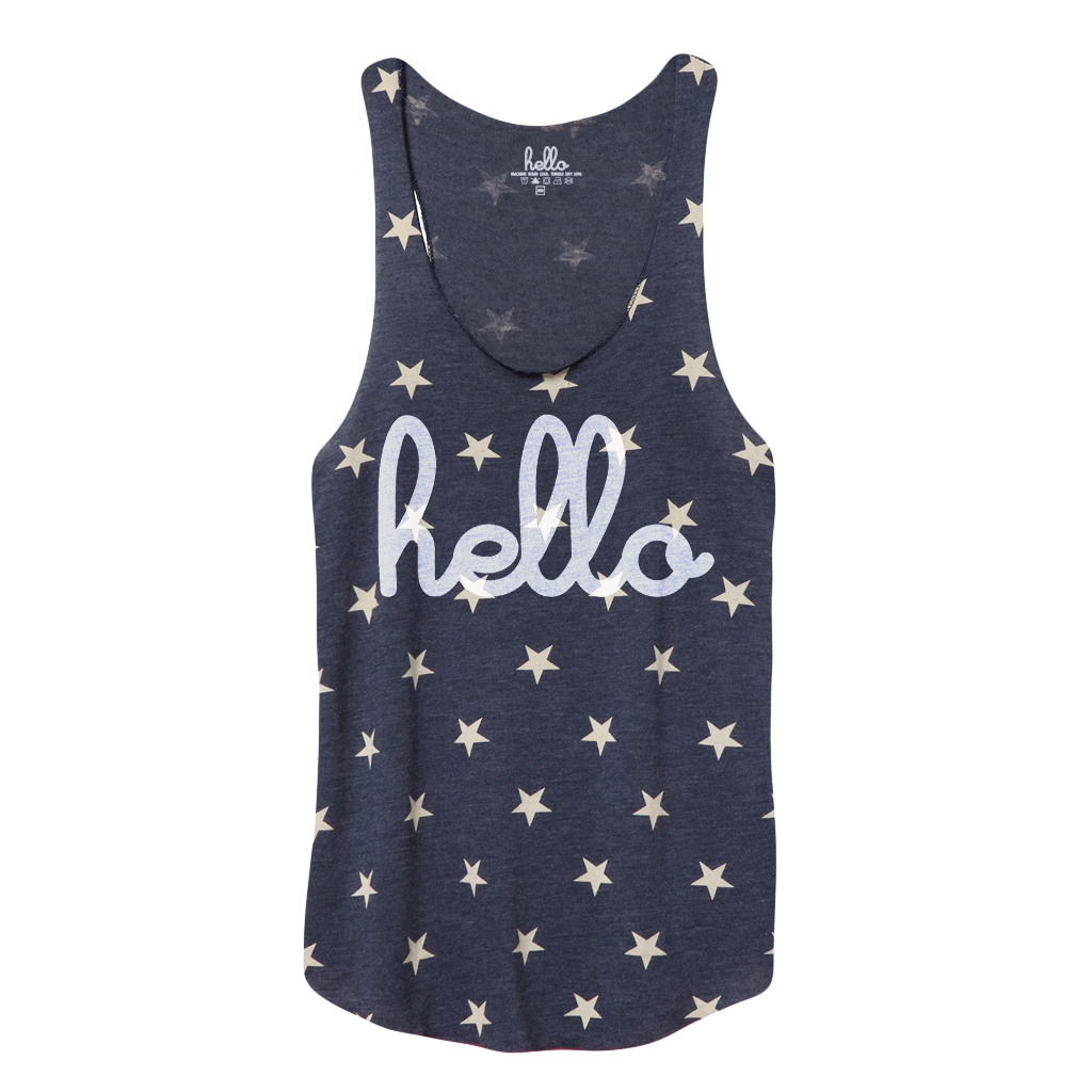 Hello Stars (Adult) Racerback Tank Top