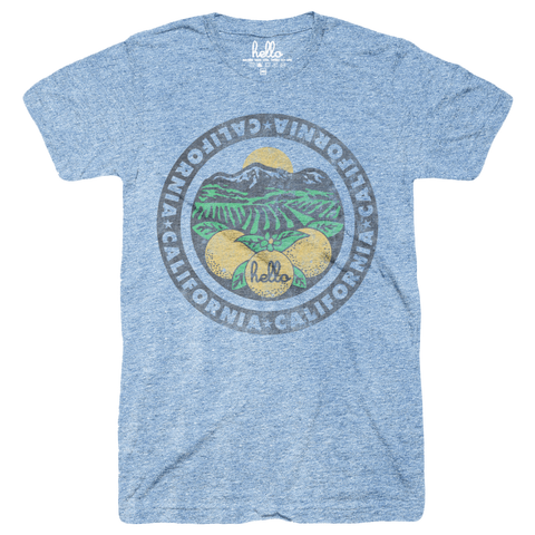 Hello California (Adult & Kids) Athletic Blue Tri-Blend