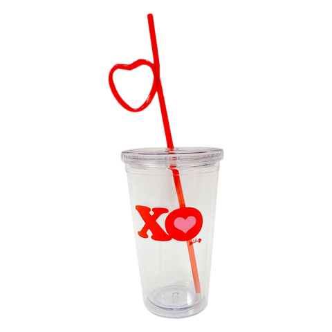 Heart Cup & Straw Set