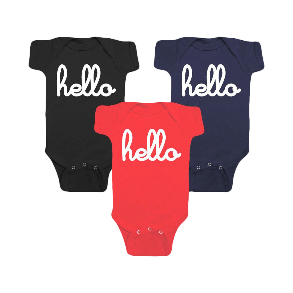 Hello Individual One-Pieces with snaps