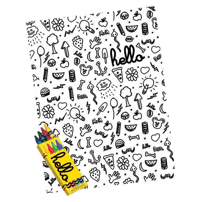"Doodles 18""x24"" Poster and Crayon Pack"
