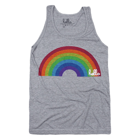 Rainbow (Adult) Grey Tri-Blend Tank Top