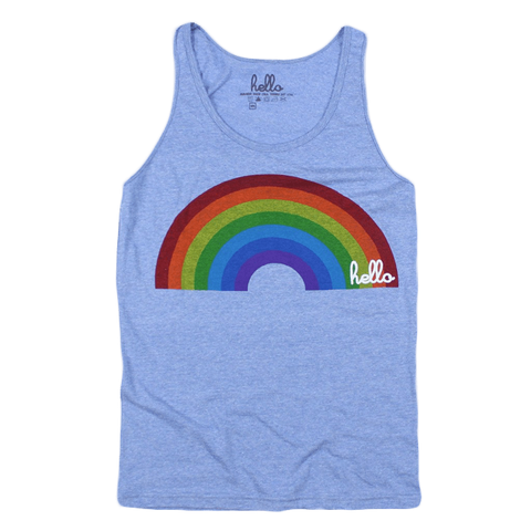 Rainbow (Adult) Heather Athlethic Blue Tri-Blend Tank Top