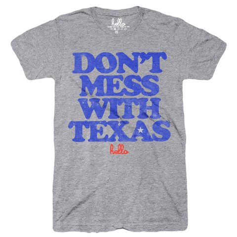 Hello Texas (Adult & Kids) Grey Tri-Blend