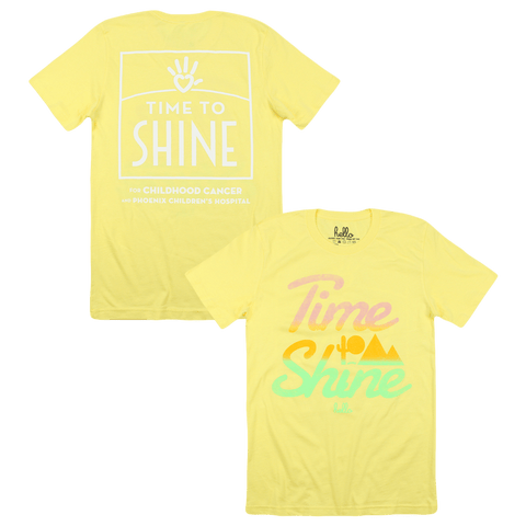 Time To Shine (Adult) Yellow T-Shirt