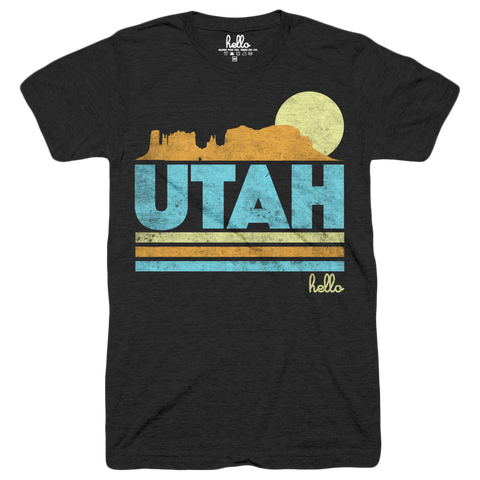 Hello Utah (Kids) Black Tri-Blend