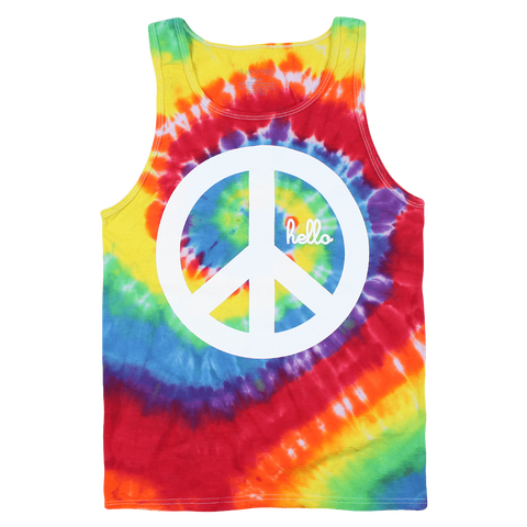 Hello Yoga (Adult) Tie-Dye Tank Top