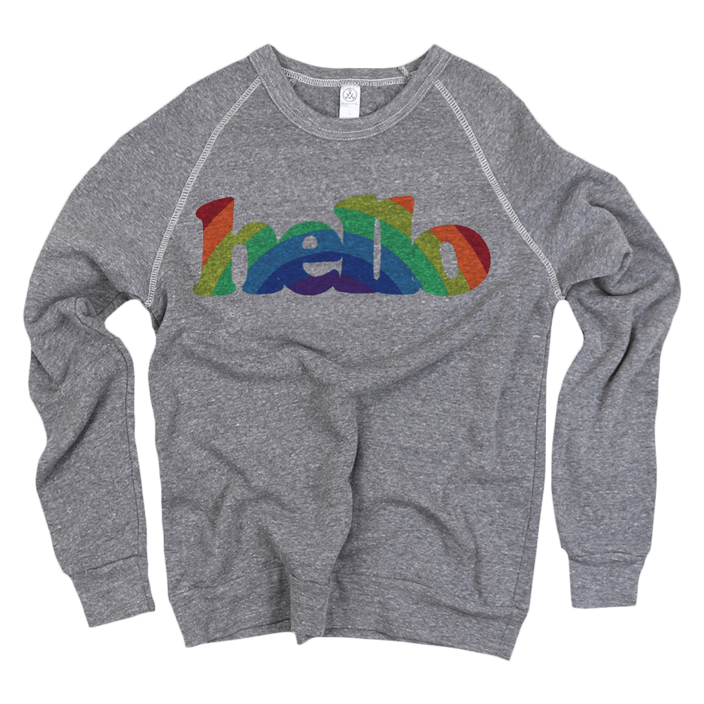 a5d40e22e571d Cooper Rainbow (Adult) Eco Grey Champ Pullover – Hello Apparel