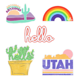 Hello Make a Sticker 4-Pack