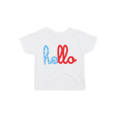 Hello Red, White & Blue (Kids) T-Shirt