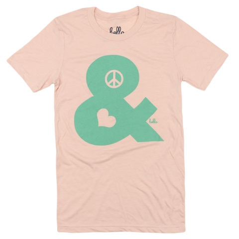 Peace & Love (Adult & Kids) Peach Tri-Blend