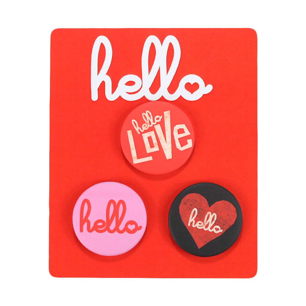 Hello V-Day 3 Button Pack